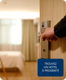 TROUVEZ UN HOTEL À PROXIMITÉ